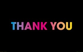 Thank you in colours
