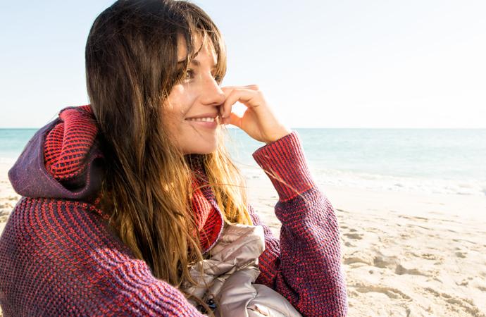 A girl on the beach